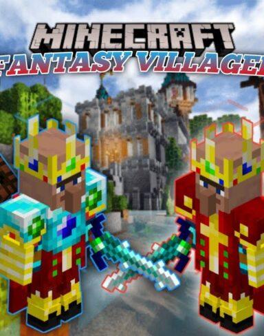 Мод на9 жителей деревни и 2 голема для Minecraft PE: Fantasy Villagers Addon