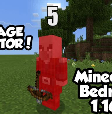 Мод наиндикатор повреждений для Minecraft PE: Damage Indicator Addon v2.3.2 [BUG FIX]