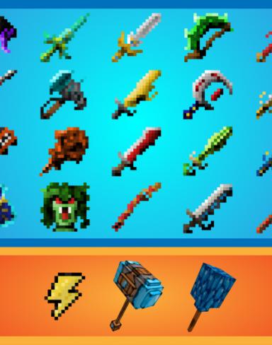 Мод надревнее оружие богов для Minecraft PE: Lost Weapons