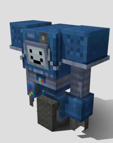 Текстурпак на Секуритрона Железного Голема для Minecraft PE: Securitron Iron Golem